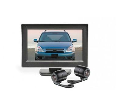 Camera Estacionamento Re E Frontal C/ Tela Lcd 4,3 - Techone (Peça)