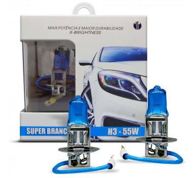 Lampada Super Branca H3 55/60w 8500k - Techone