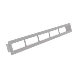 Aeroduto Retang. Prata 25x385mm - Lud