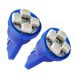Lampada Led T10-4smd-3528 Azul 200par/caixa