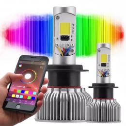 Lampada Super Led H7 Rgb 6000k 3700 Lumens Col Dsp