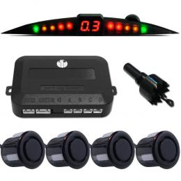 Sensor de Estacionamento Preto 4 Pontos Prime - Techone